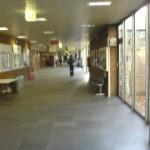 Коридора към WISO факултета